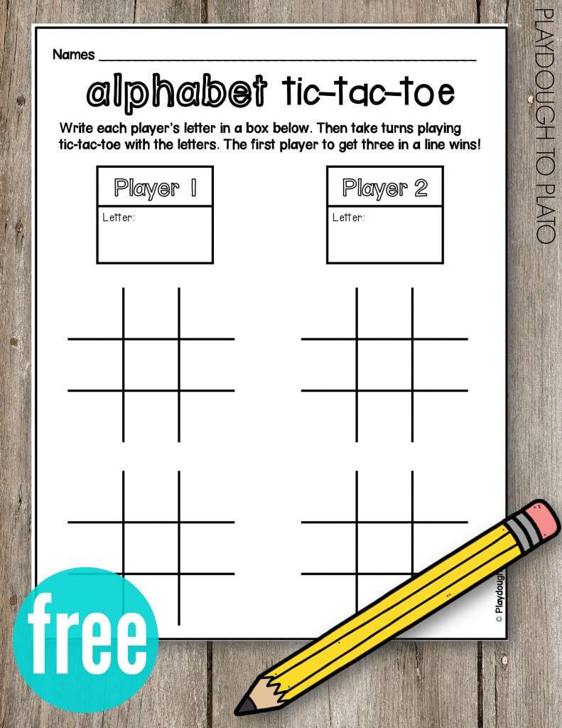 FREE Alphabet Tic Tac Toe!! What a fun ABC game for kids. So simple to play and no prep!