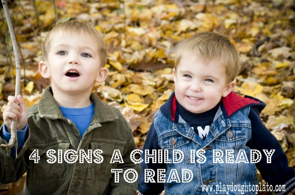Four Signs of Reading Readiness