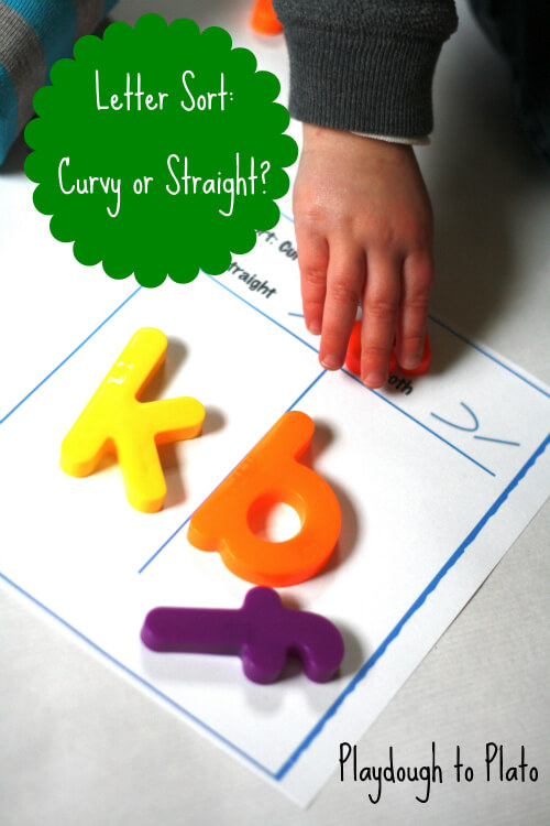 ABC Sort: Curvy or Straight?