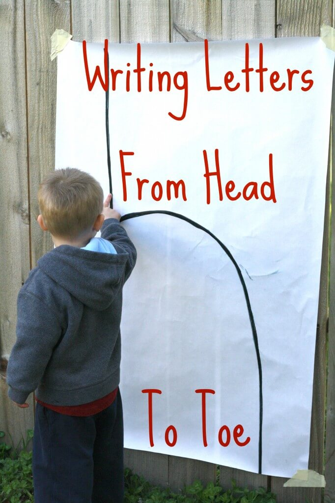 Writing from head to toe