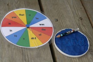 Spin a Sight Word