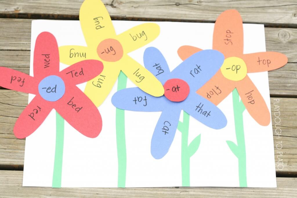 Word Family Garden Craft and Literacy Activity in One.