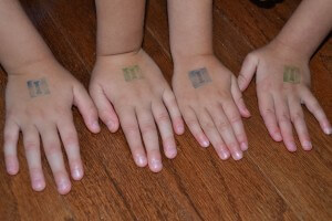 Letter of the Day Hand Stamps