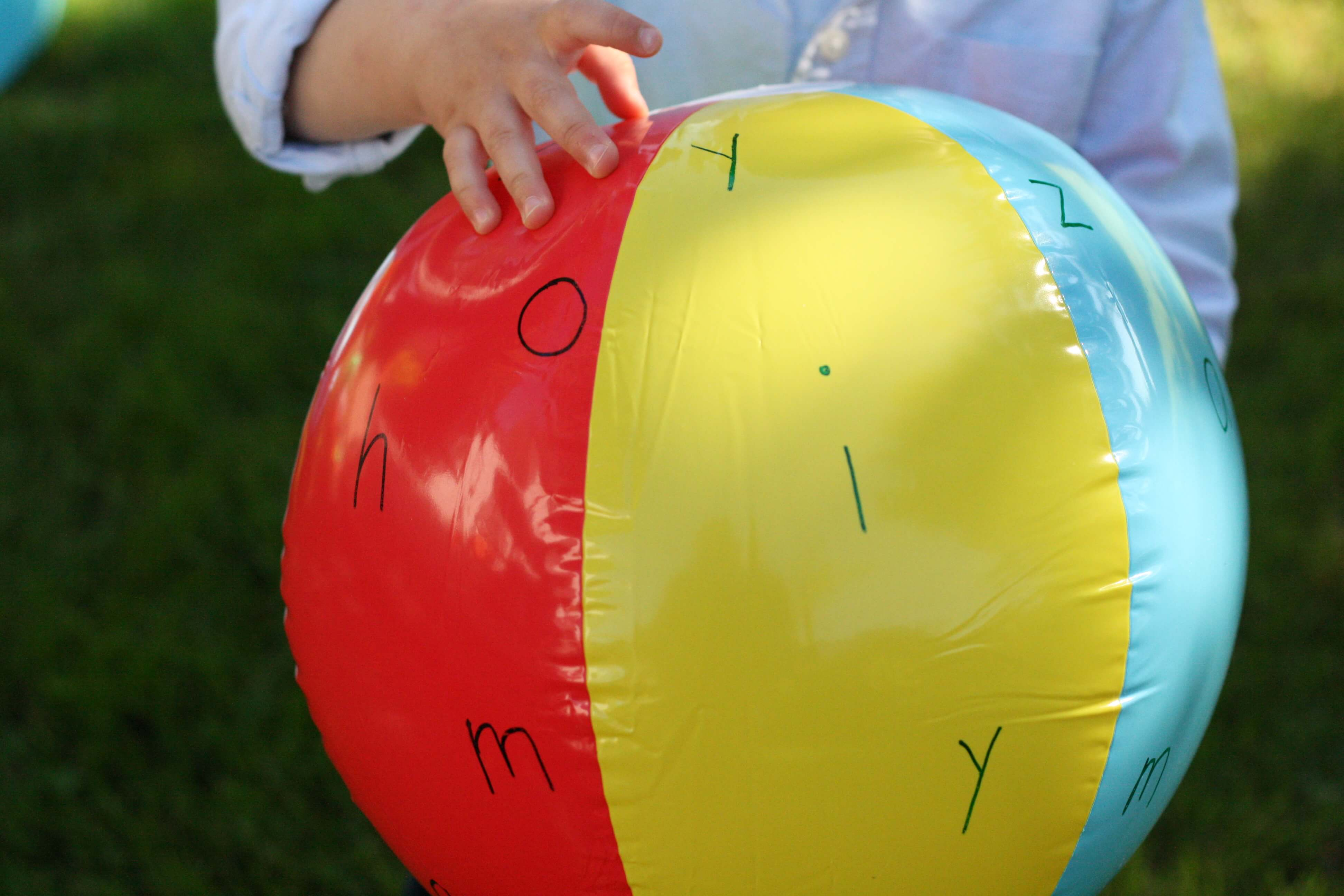 alphabet ball playdough to plato With letter ball