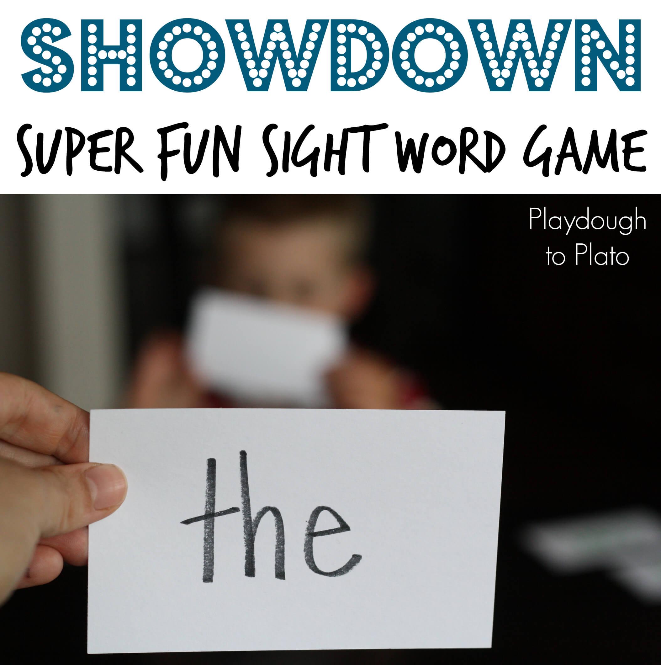 Game: Sight activities word Word   Showdown!! Plato To sight Playdough prep