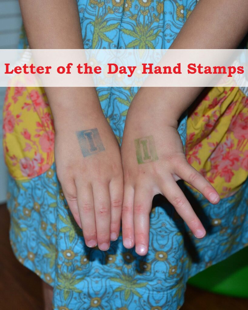 ABC Game: Letter of the Day Stamp