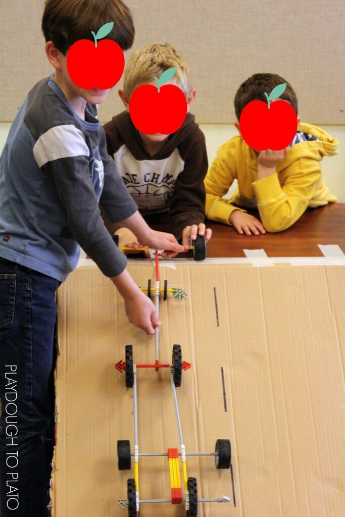 Awesome STEM project for kids! Build and race K-nex cars.