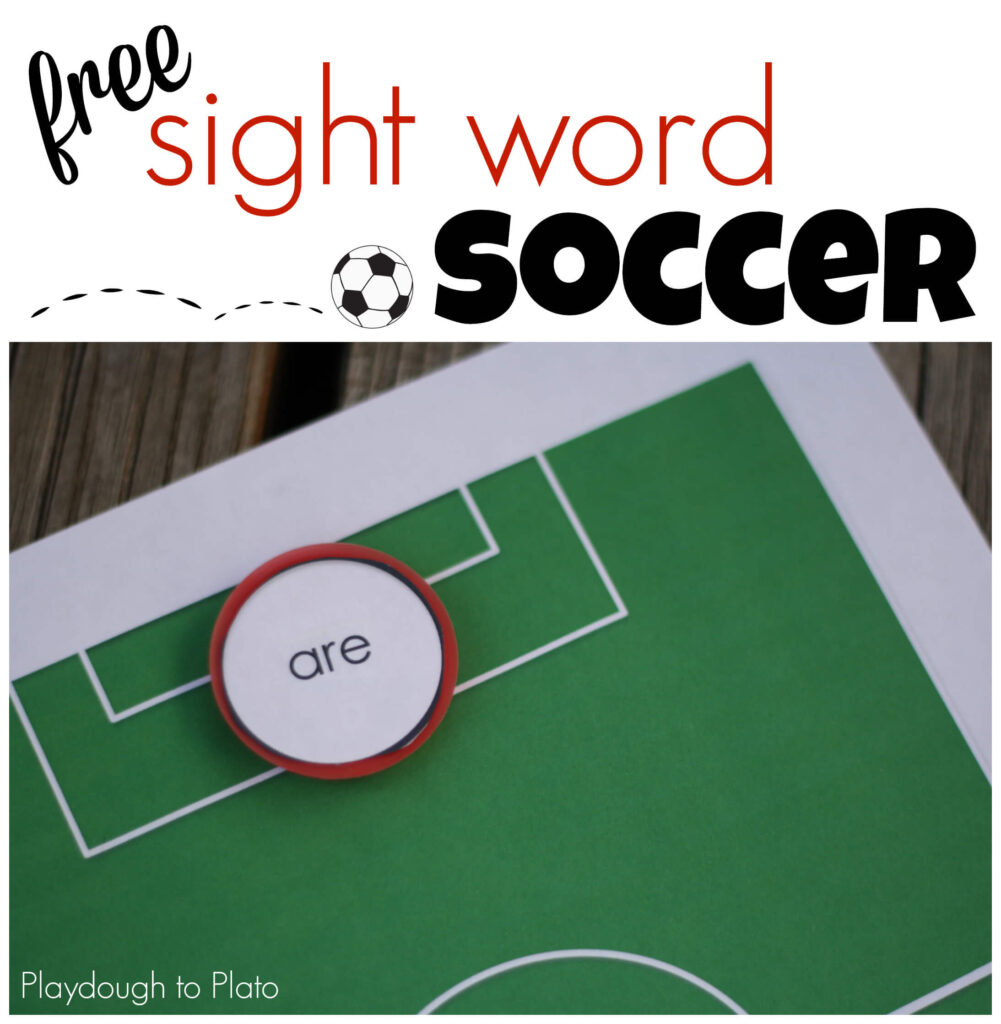 Free Sight Word Soccer. So cool! {Playdough to Plato}