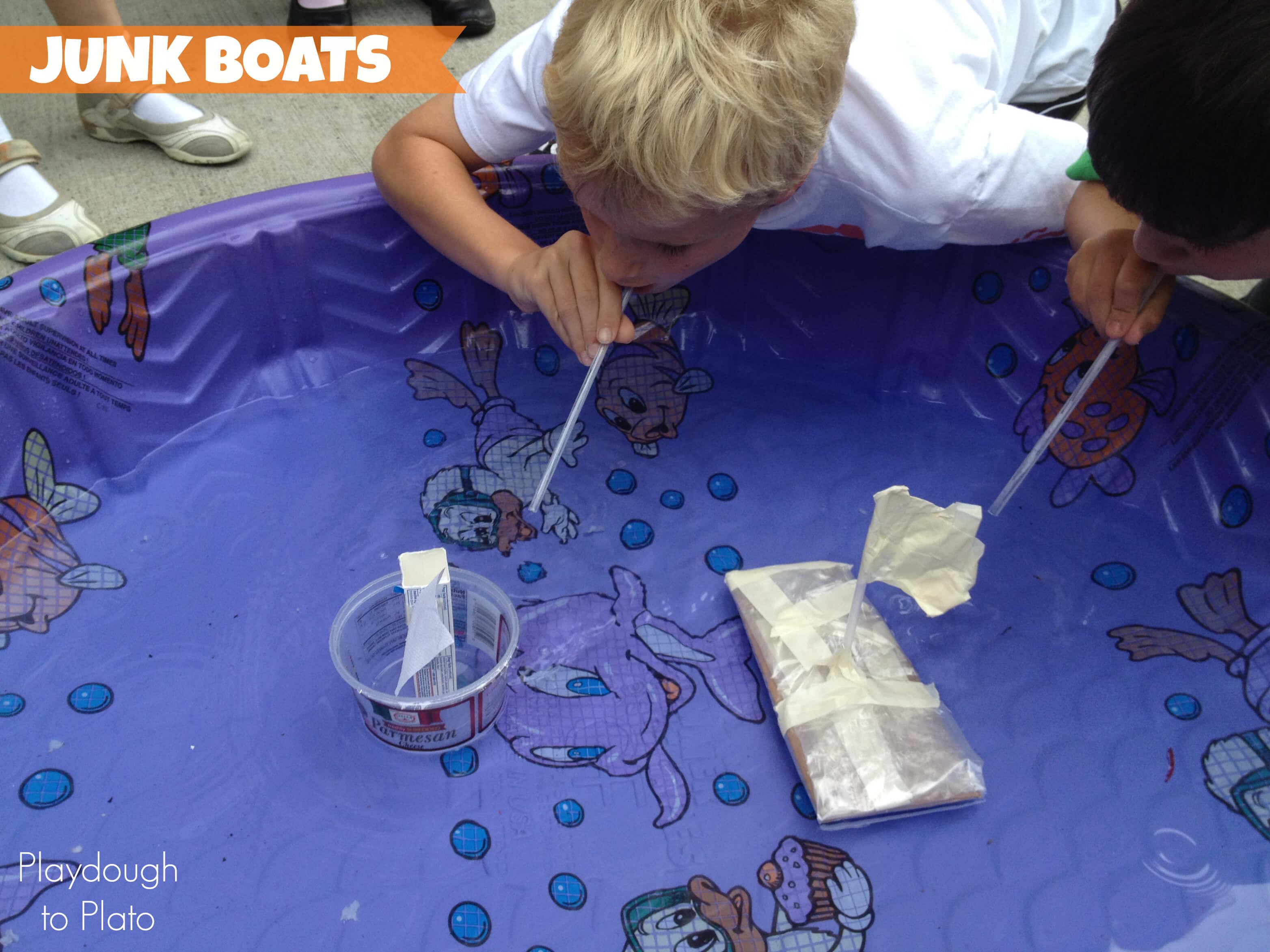 STEM Junk Boats - Playdough To Plato