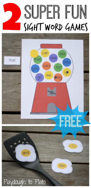Awesome freebie! 2 super fun sight word games.