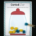 Place the gumballs in the jar!
