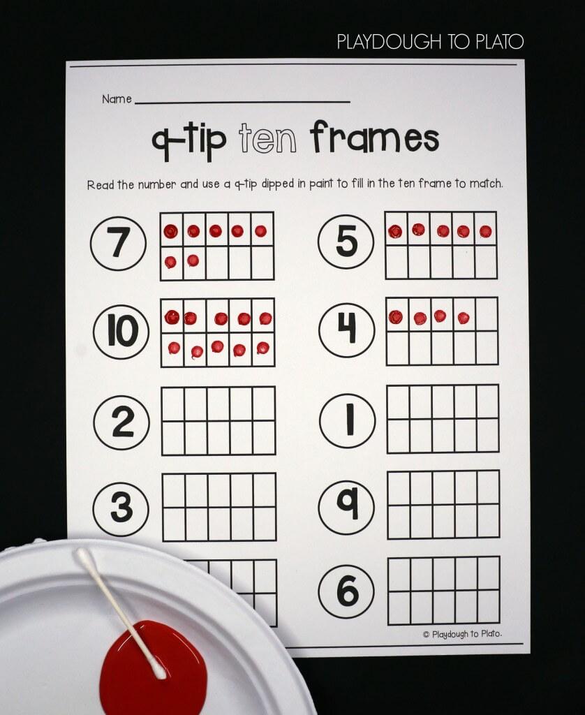 Q-tip ten frames!