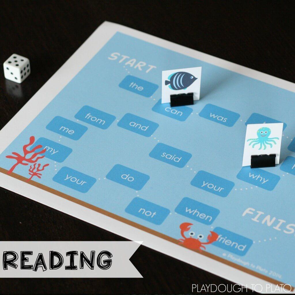 Reading Games for Kindergarteners