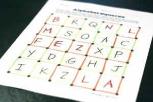 Magic Squares Sight Word Game