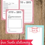 Free Printable Santa Stationery