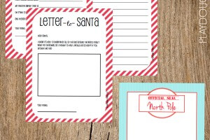 Free Printable Santa Stationery