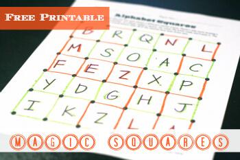 Sight Word Game: Magic Squares
