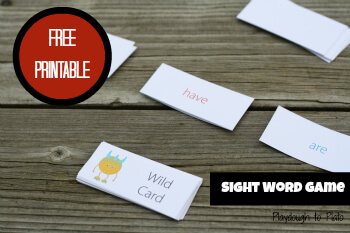 sight uno Game word Up Sight Set  Word printable