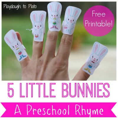 5 Little Bunnies Free Printable