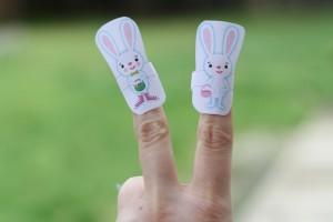 Five Little Bunnies Finger Puppets
