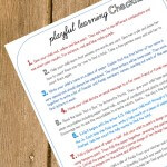 February's Playful Learning Checklist
