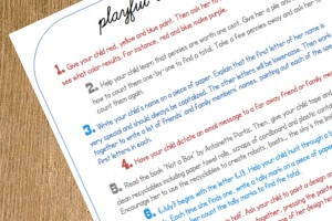 January's Playful Learning Checklist