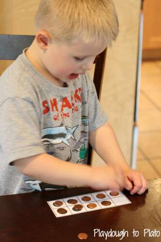 Learning Numbers with Ten Frames {Playdough to Plato guest posting on Carrots are Orange}