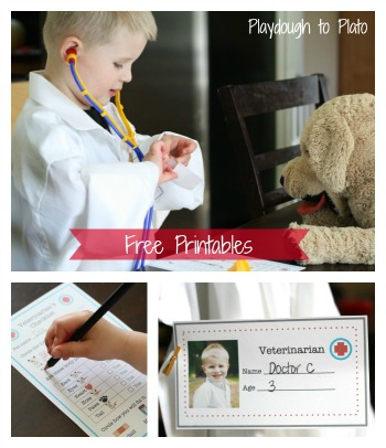 Pretend Play: Veterinarian's Office Printables