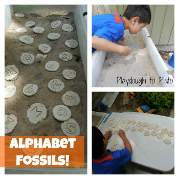 Alphabet Fossils!! {Playdough to Plato}