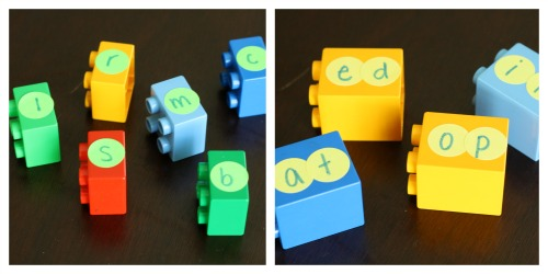 LEGO Word Families. Hands-on reading activity for new readers. {Playdough to Plato}