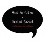 Free Printable Back to School and End of School Interviews