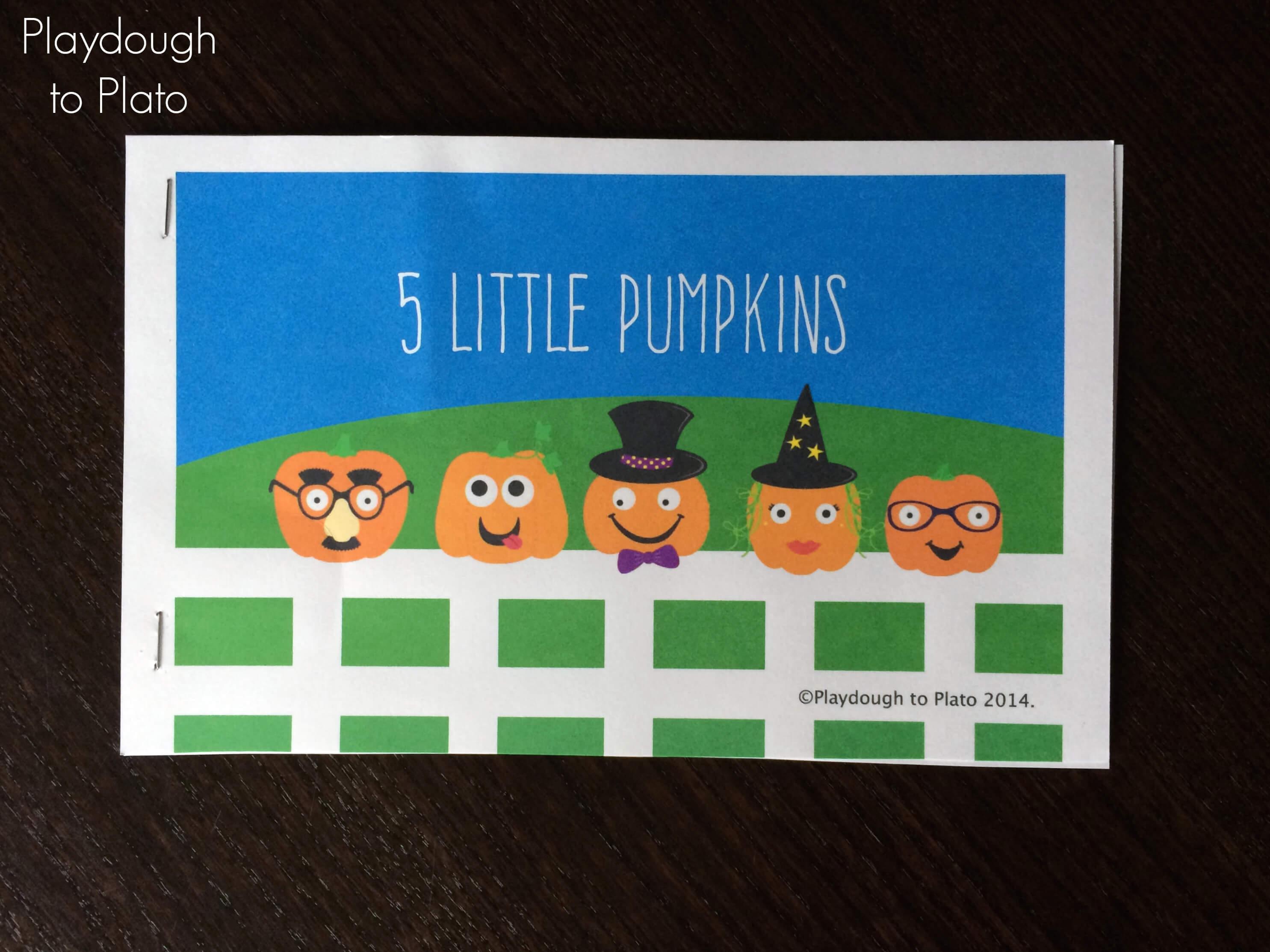 5 Little Pumpkins Mini Book