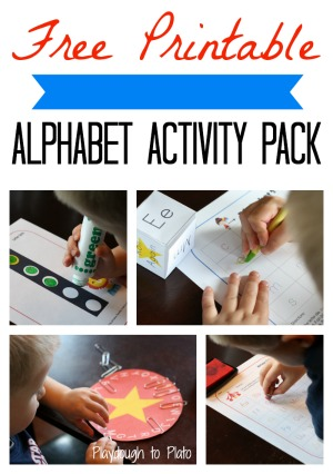 preschool alphabet activities, free printable