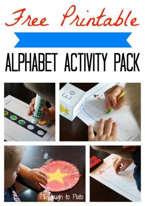 preschool alphabet activities, free printable