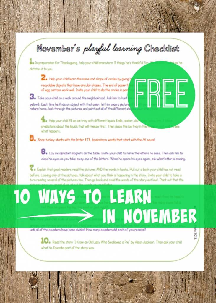 10 Ways to Learn in November