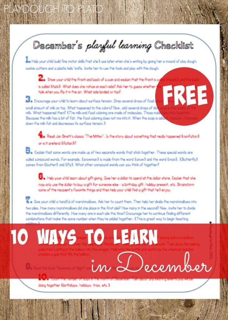 10 Ways to Learn in December