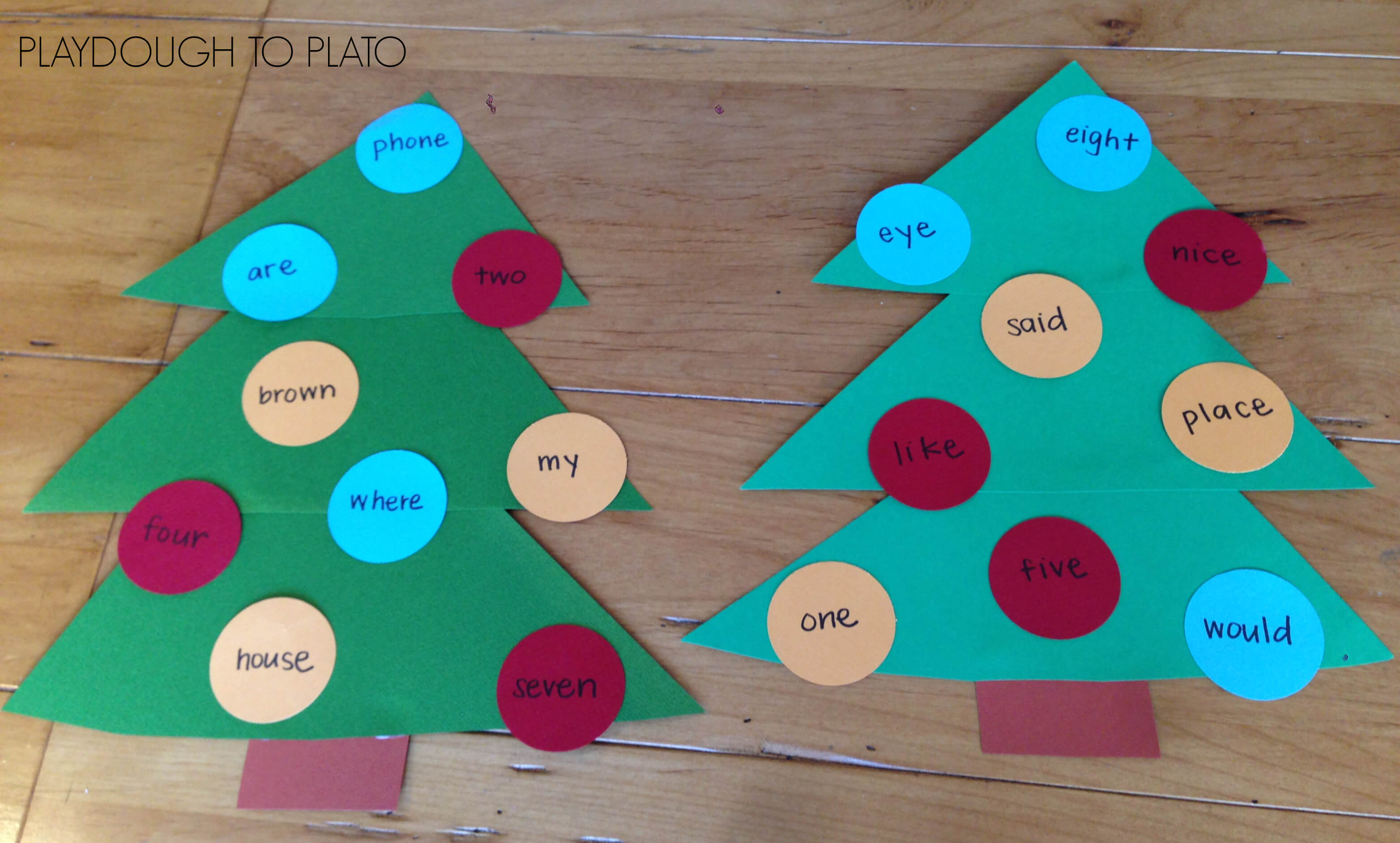 christmas tree sight word game - Christmas Tree Game