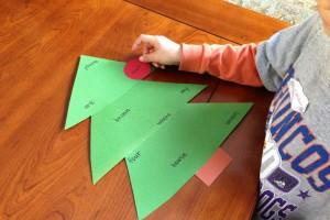 Sight Word Christmas Tree Game