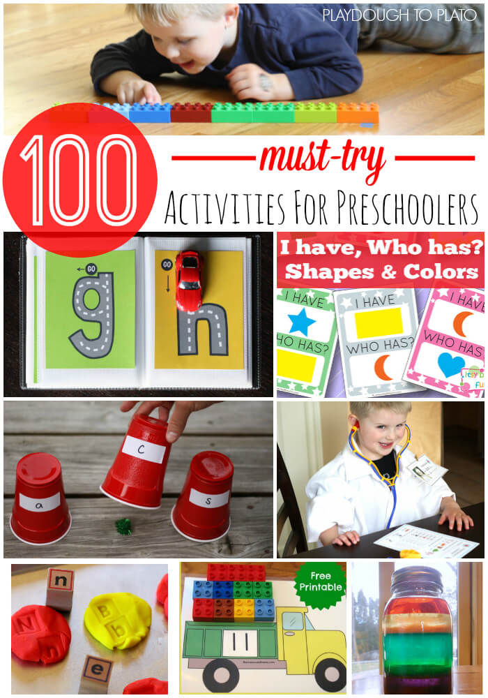 100 Preschool Activities Kids Will Love!!