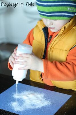 Fine Motor Skills: Squeeze Bottle Salt Writing