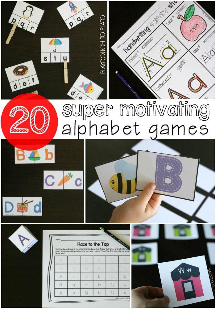 20 Super Motivating Alphabet Games