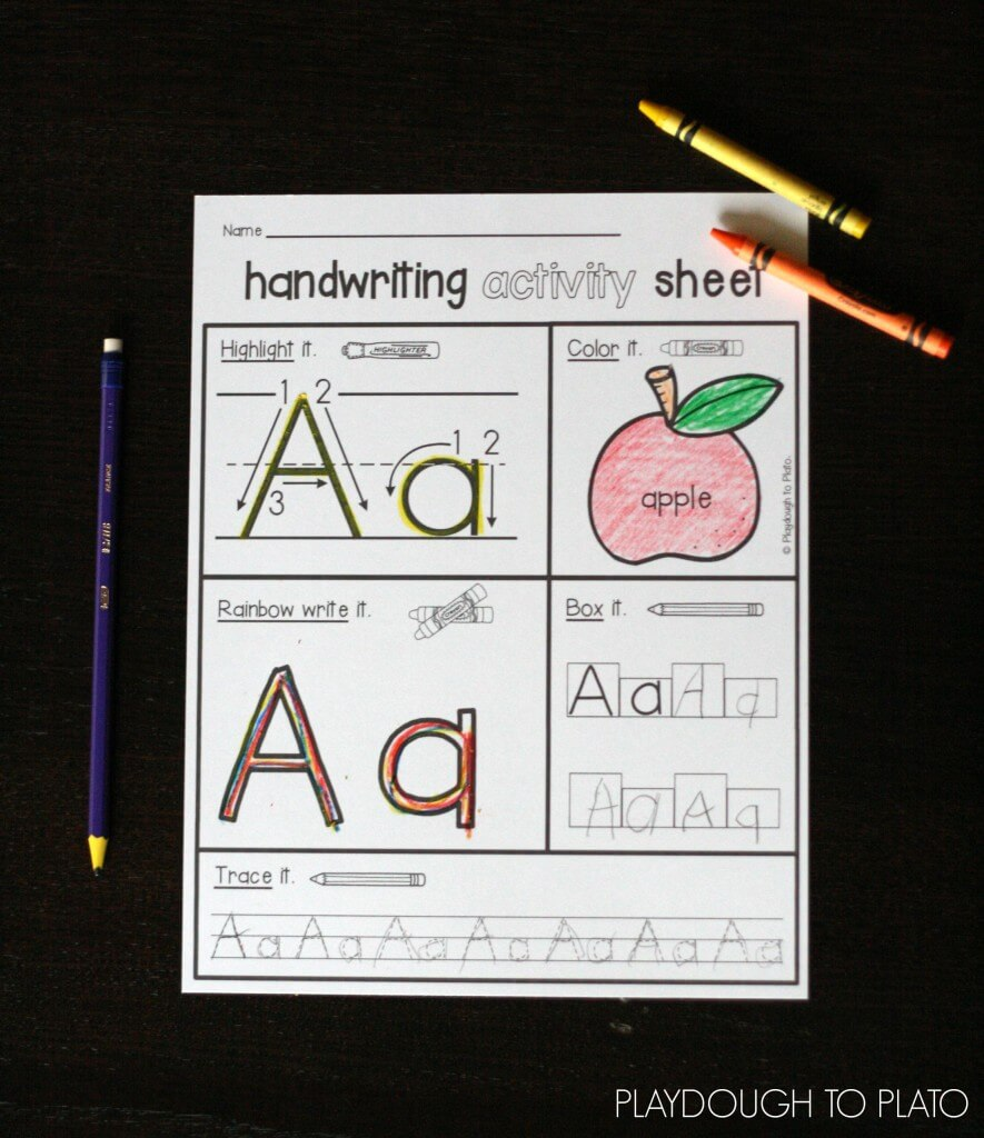 Practice writing all 26 letters with our wildly popular handwriting activity sheets.