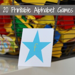 20 Printable Alphabet Games