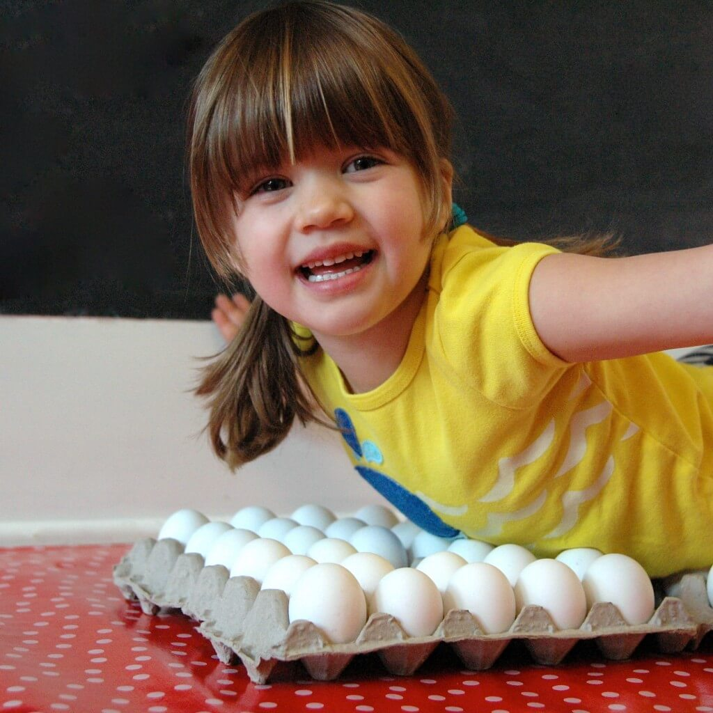 Walking on Eggs. Awesome science experiment for kids. {Playdough to Plato}