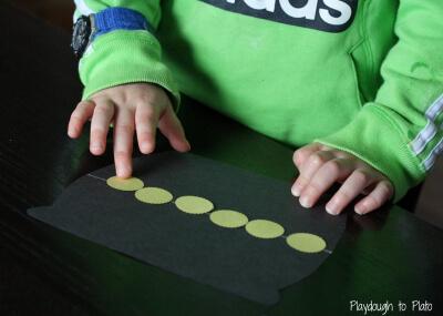 Measuring Leprechaun Pots. {Playdough to Plato}