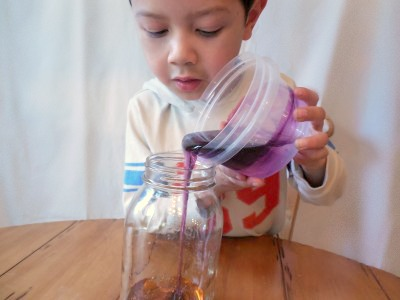 St. Patrick's Day Science Experiment for Kids: Rainbow Jar.