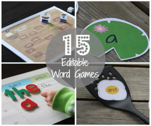 15 Editable Sight Word Games