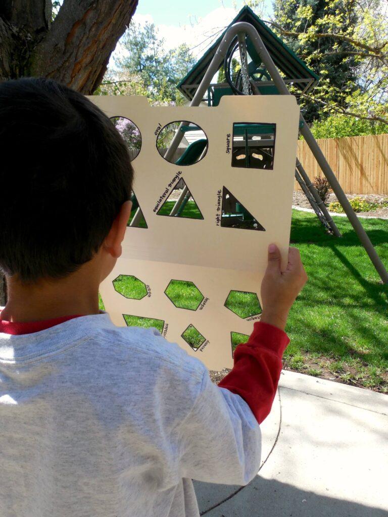 Clever way to teach kids shapes. Take a shape hunt!! {Playdough to Plato}