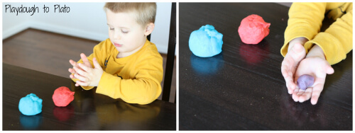 Color Game: Color Mixing with Playdough