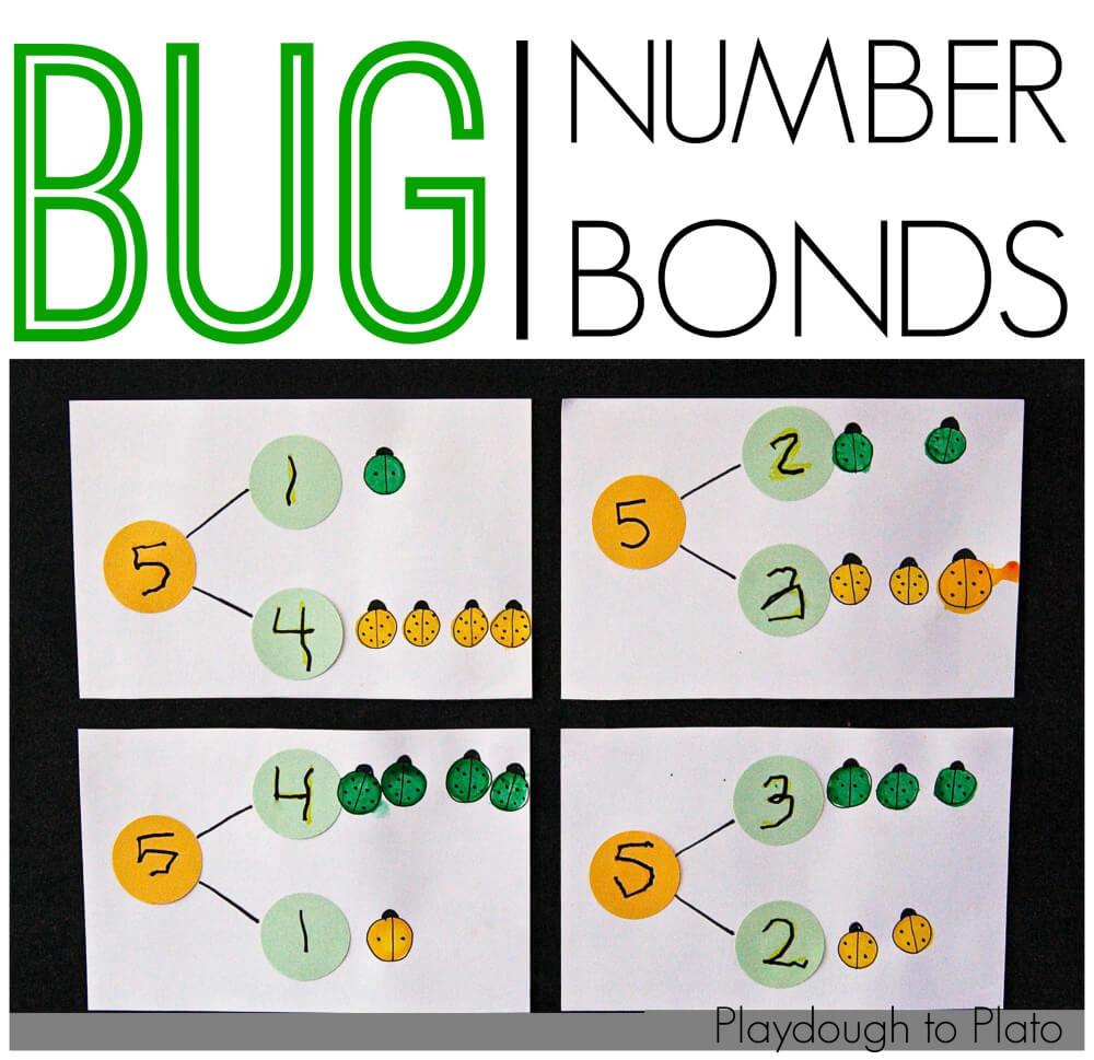 Bug Number Bonds Playdough To Plato